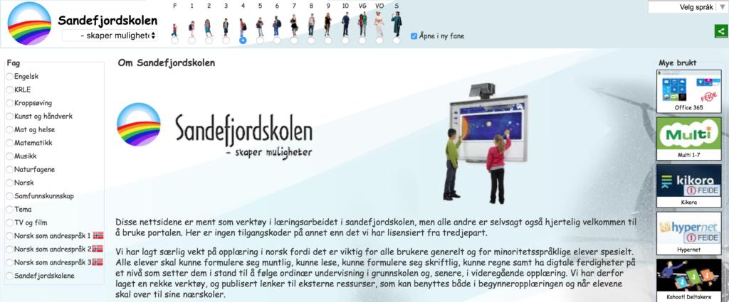 Faksimlie: Sandefjordskolen.no